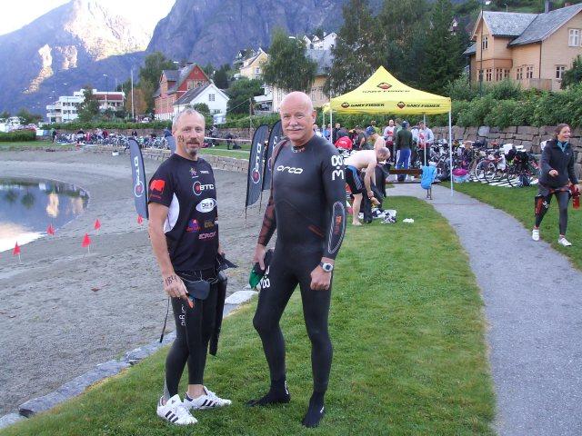 Klar for svømmedelen under Aurlandsfjellet Xtreme Triathlon