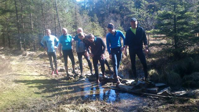 Med Fenring Langdistanse. Frode, Svein, Blokken, Janicke, Gunnar, Eirik og Harald