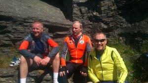 Sammen med to gode venner, Øyvind og Harald
