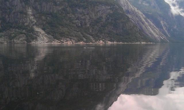Eneste som fikk svømme i Eidfjord var Hvalen.