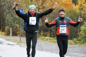 Bergen Ultra Sammen med min løpe kompis Trond Larsen.