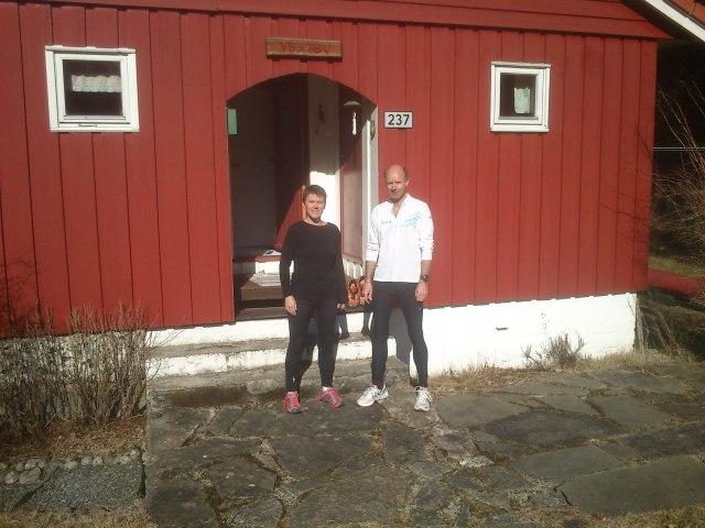 Inger Johanne og Morten klar for løpetur.