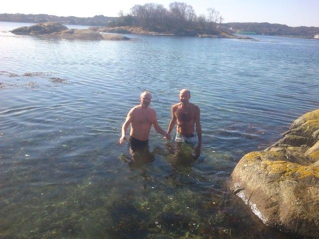 Bading i Herdlafjorden.