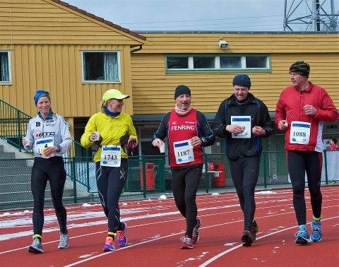 Gruppen jeg løp sammen med store deler av de 63.3 km.