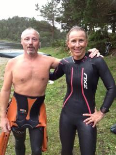 Meg og Camilla etter målgang.