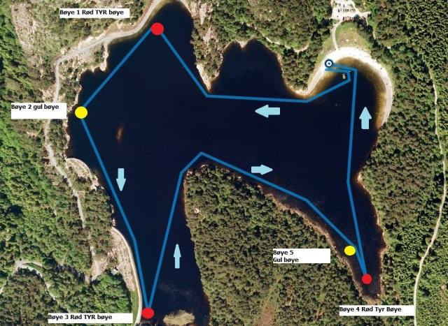 Bergen Ope Water 5000m banen.