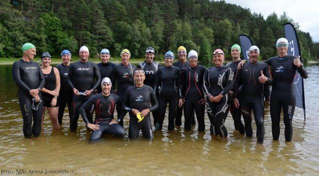 Bergen Open Water 5000 meter feltet