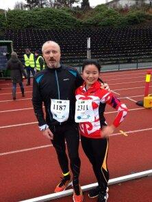 Maratonkarusellen sammen med Sun fra Kina