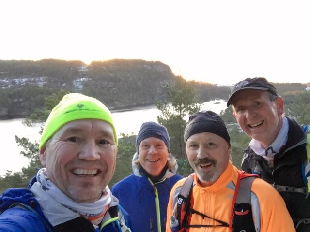På langtur med Harald, Øyvind, Stig Rune, som alle skal være med på Lysefjorden inn 2017.