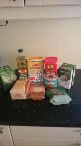 Ingredienser til brødbaking.